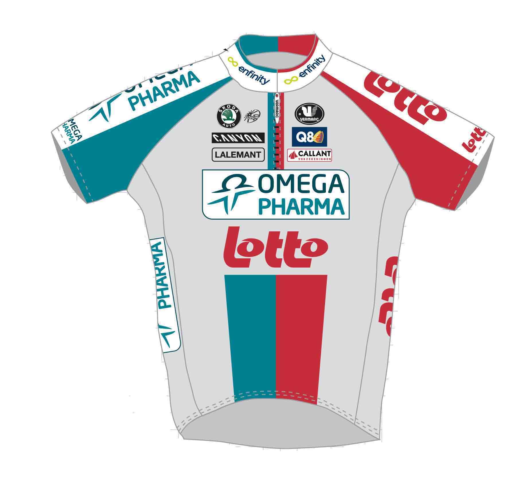 Omega Pharma Lotto Short Sleeve Jersey, Full Zipper