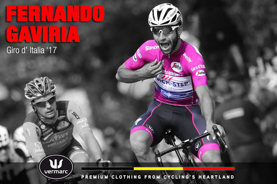 Fernando Gavaria at the 2017 Giro d'Italia