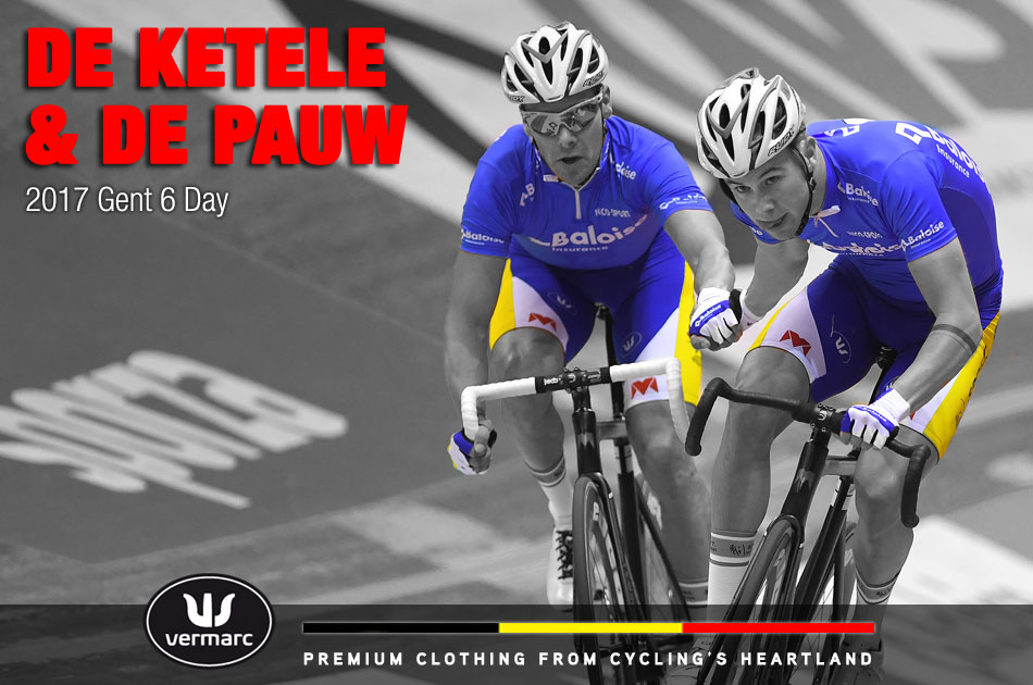 De Ketele and De Pauw at the Gent 6-day 2017