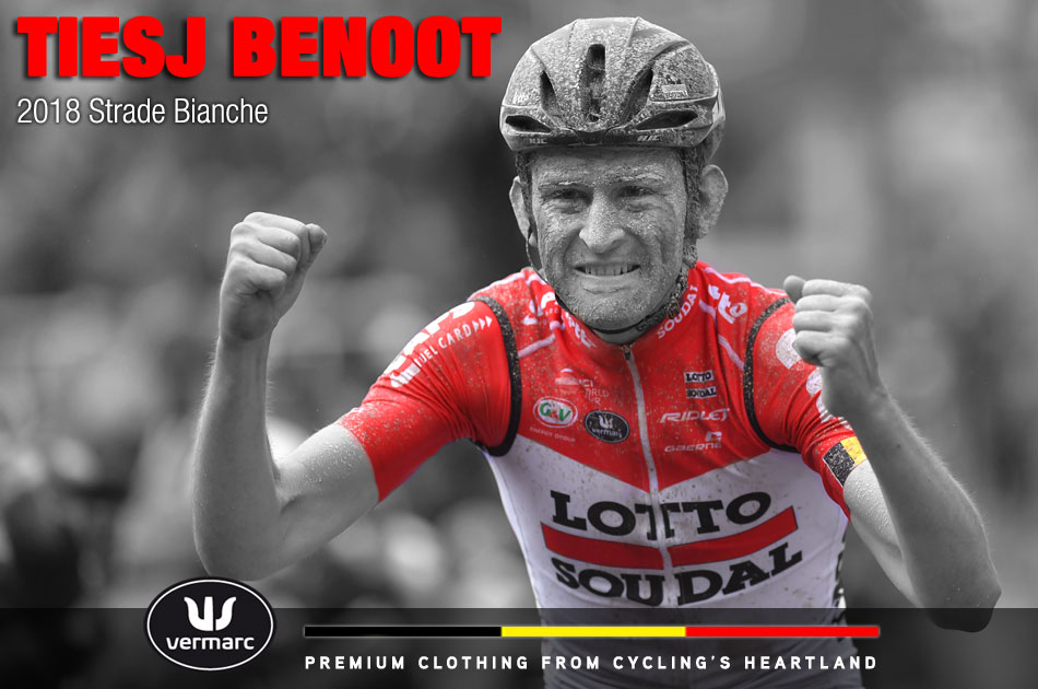 Tiesj Benoot at the 2018 Strade Bianche