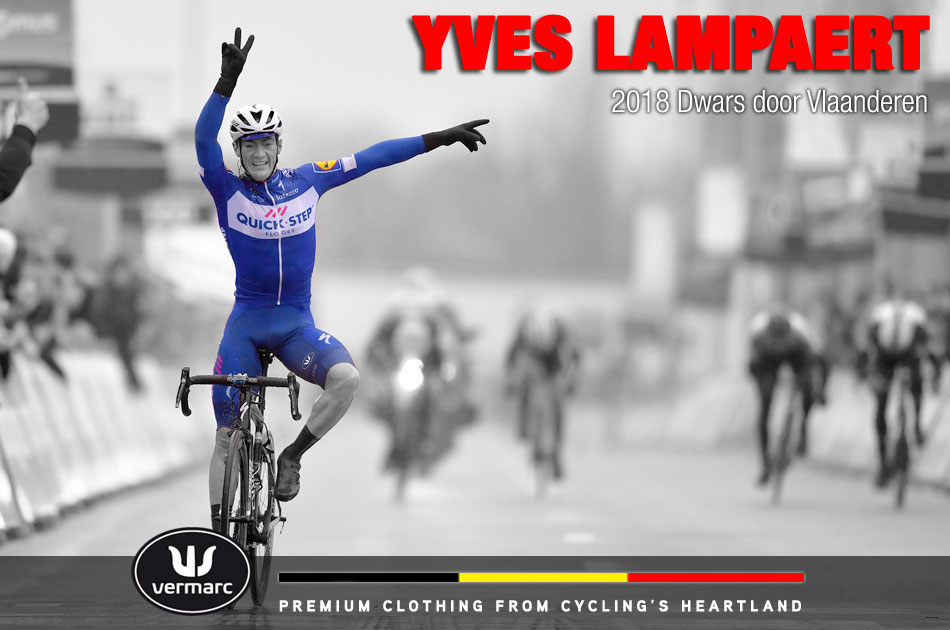 Yves Lampaert wins the 2018 Dwars door Vlaanderen