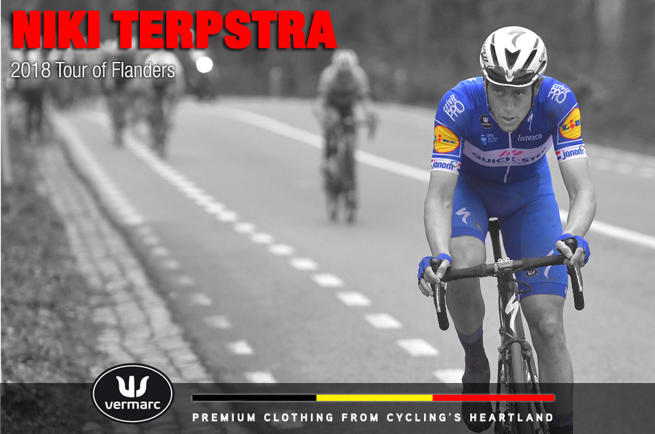 Niki Terpstra makes the winning attack to finally take victory in the Tour of Flanders