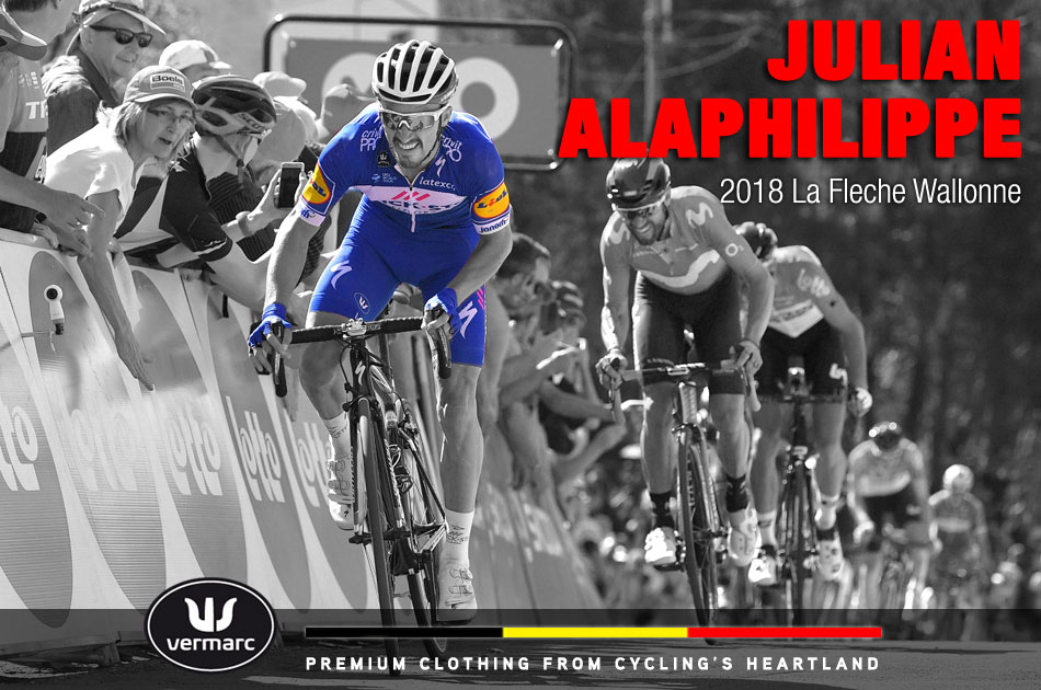 Julian Alaphilippe wins the 2018 La Fleche Wallone