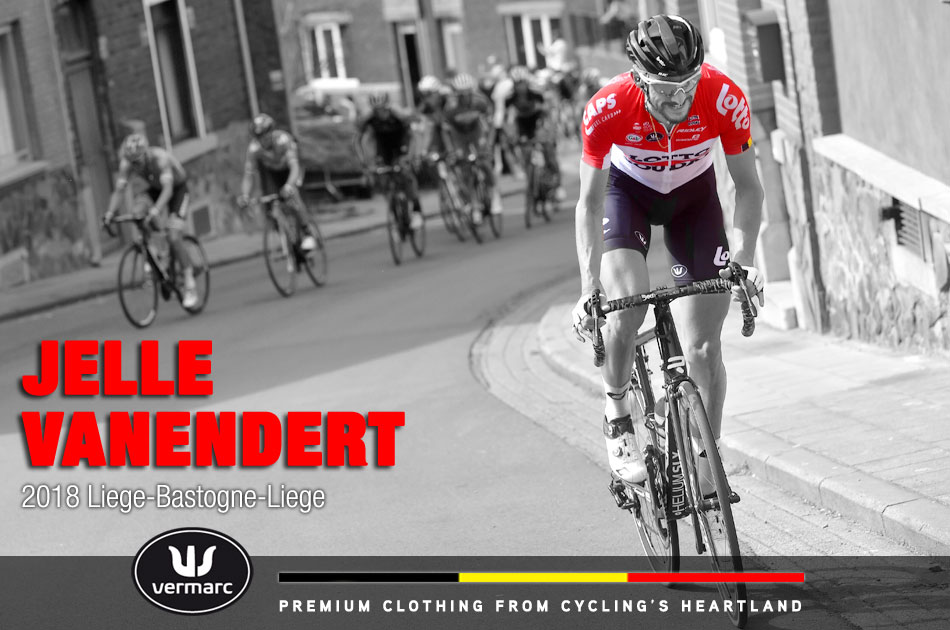 Jelle Vanendert attacks during Liege-Bastogne-Liege 2018