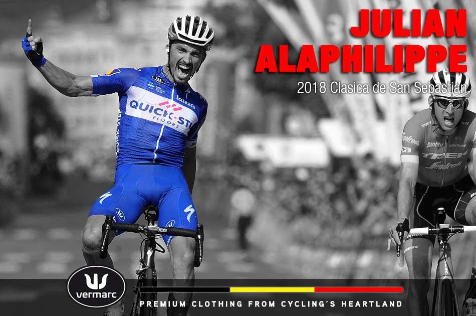 Julian Alaphilippe wins the 2018 Clasica de San Sebastian