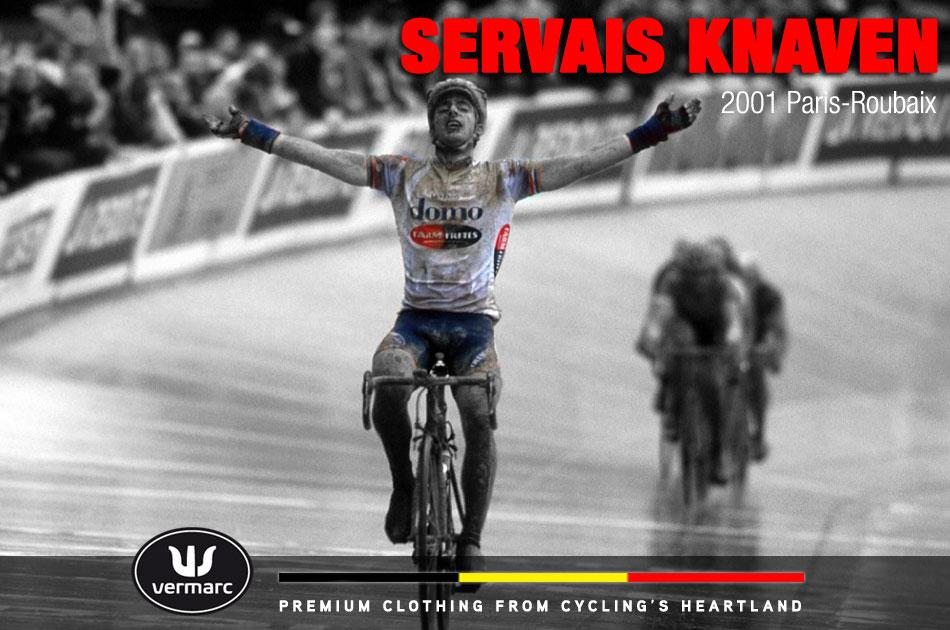 Servais Knaven wins Paris-Roubaix 2001