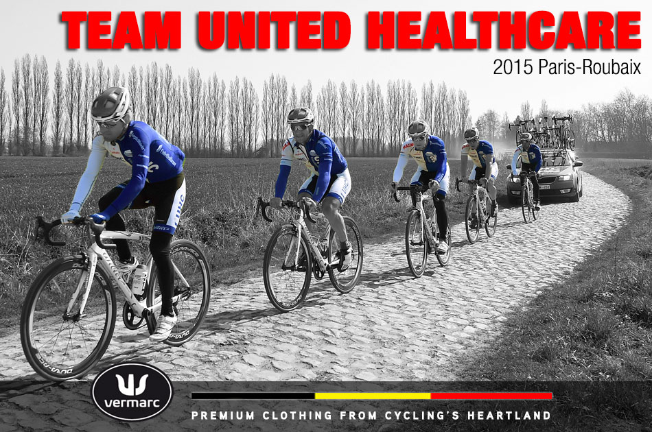 Team UnitedHealthcare pre-rides the course of the 2015 Paris-Roubaix