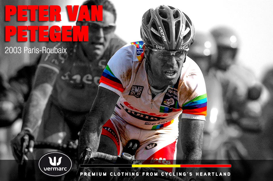 Vam Petegen wore the World Cup leader's jersey en route to winning the following week's Paris Roubaix