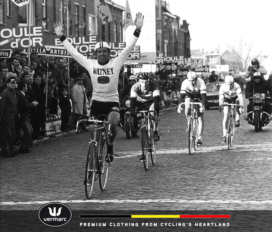 Vermarc founder Frans Verbeek takes the win. Do you recognize the guy in 3rd?